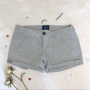 American eagle grey khaki shorts 4 small
